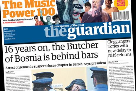 The Guardian: includes Music Power 100 in today's edition