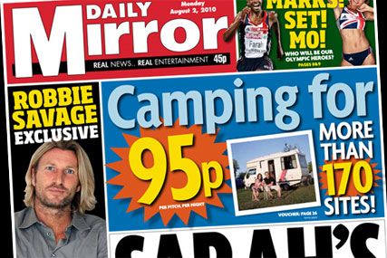 The Daily Mirror: Camping deal goes head to head with The Sun