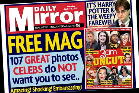 Daily Mirror: Includes a free celebrity pull-out