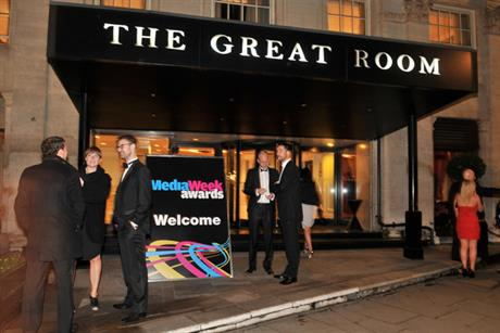 The Media Week Awards: held in Grosvenor House's Great Room