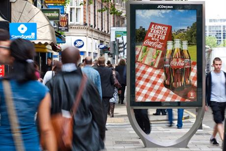 JCDecaux: mock-up of a site in Southwark