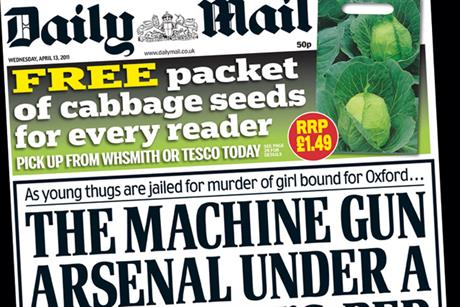 Daily Mail: offers cabbage seeds