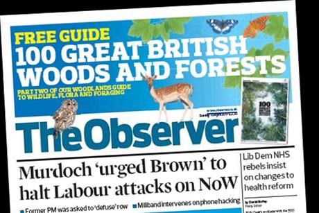 The Observer: circulation falls below 300,000