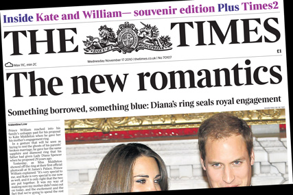 The Times: Kate and William souvenir editon
