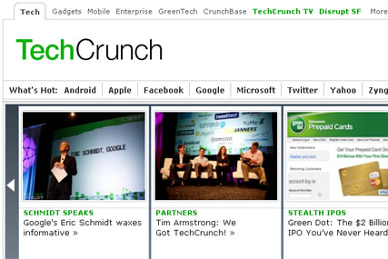 TechCrunch: bought by AOL