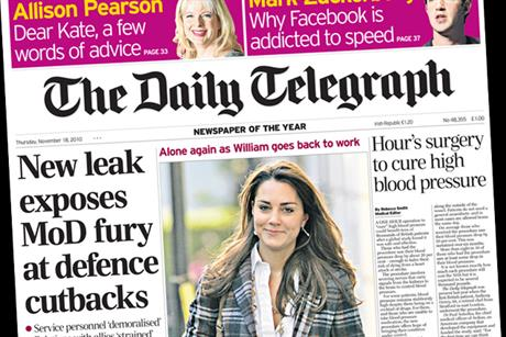 The Daily Telegraph: Facebook makes the cover