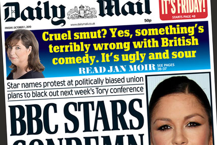 Daily Mail: BBC strike talks make headlines