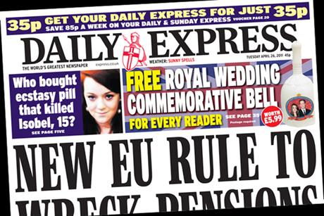 The Daily Express: free Royal Wedding bell