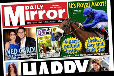The Daily Mirror: Ascot coverage promoted