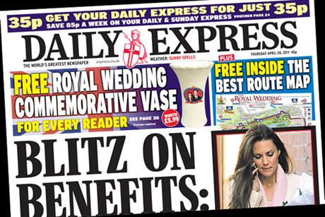 The Daily Express: Royal Wedding vase for readers