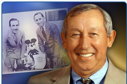 Roy Disney: associated with the Disney company for 56 years