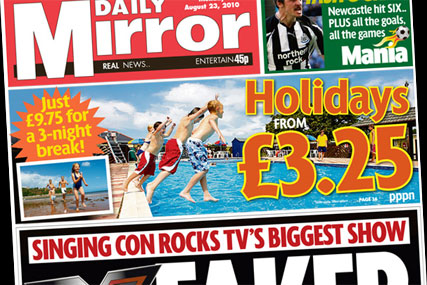 Daily Mirror: Holiday offer