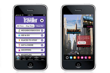 Condé Nast Traveller: first in a series of city-based apps