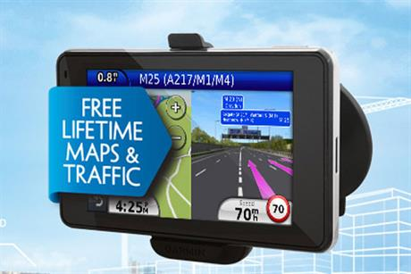 Garmin: to promote its products across Amscreen digital garage forecourt screens