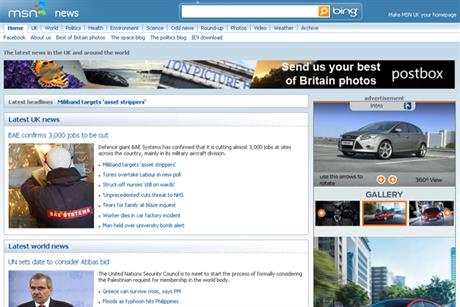 MSN News: Ford Focus runs Filmstrip format