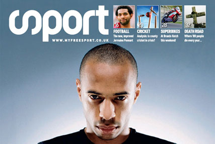 Sport magazine's first ever issue featuring Henry