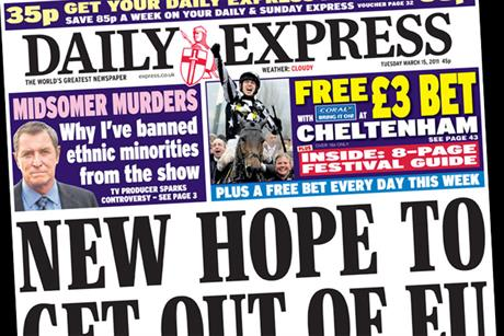 The Daily Express: offers free 3 Coral bet