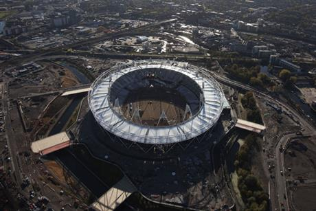 The Olympic stadium takes shape in London's East End (Pic credit: London 2012)