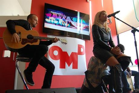 Rita Ora: singer-songwriter performs for her audience at OMD UK