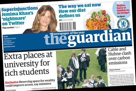 The Guardian: Paper promotes G2 inside