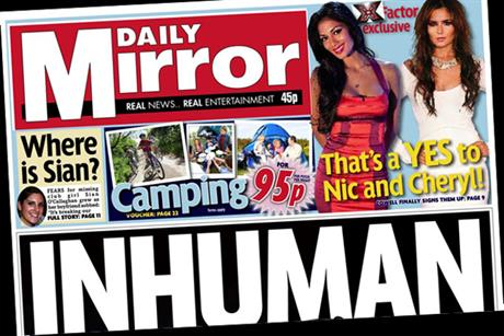 The Daily Mirror: Camping from 95p