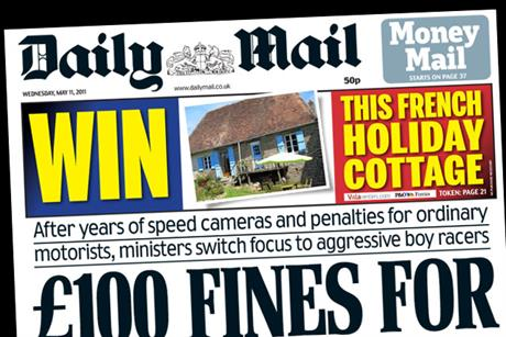 Daily Mail: Features contest in conjunction with Villarenters.com and P&O Ferries