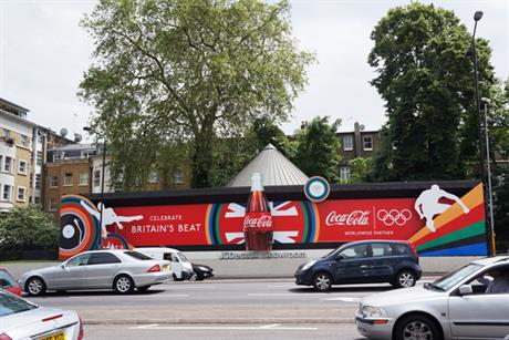 London 2012: work for sponsors such as Coca-Cola boosted outdoor revenues