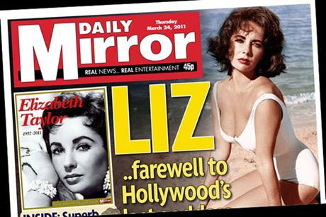 The Daily Mirror: Elizabeth Taylor tribute