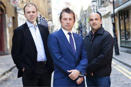Nick Bampton (centre) with the partners in his new business Agostino DiFalco and Dan Salem