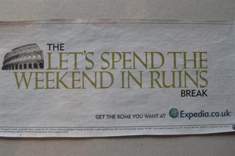Expedia: avoids the usual the travel ad clichs