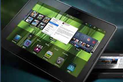 RIM unveils its BlackBerry PlayBook tablet as Apple readies slimmer iPad