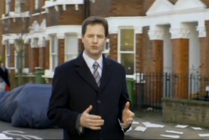 Nick Clegg: Liberal Democrat YouTube video