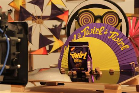 Behind the scenes on the Cadbury's Twirl Bites shoot