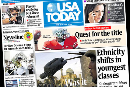 USA Today: cuts 9% of staff