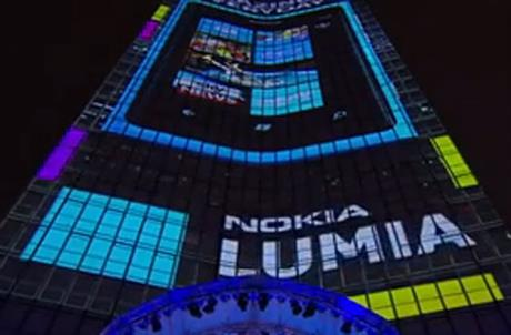 Millbank Tower: 4D-projection light show marks launch of Nokia Lumia smartphone