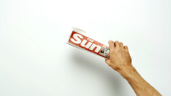 The Sun '40 year work' by Glue London