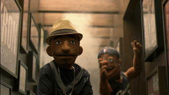 James and Bryant ... in puppet form