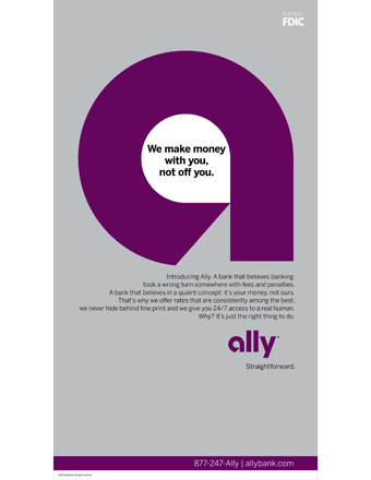 Ally Bank 'straightforward' by BBH New York