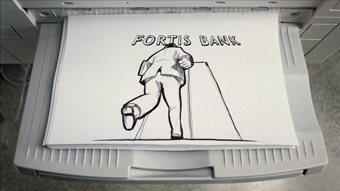 Fortis Bank ... uses photocopier to create animation