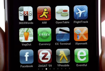 Iphone ... promoting range of US apps