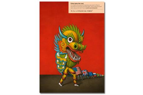 FT 'China shapes the world' by DDB UK