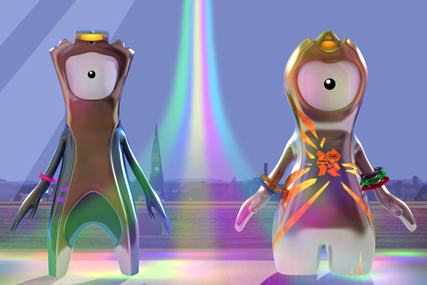 LOCOG 'Wenlock and Mandeville' by Crystal CG International
