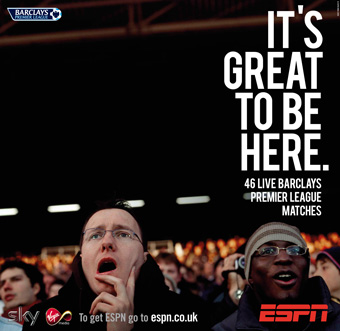 ESPN 'UK channel launch' by Wieden & Kennedy Amsterdam