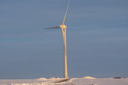 A Goldwind 1.5MW turbine at the Pipestone, Minnesota project
