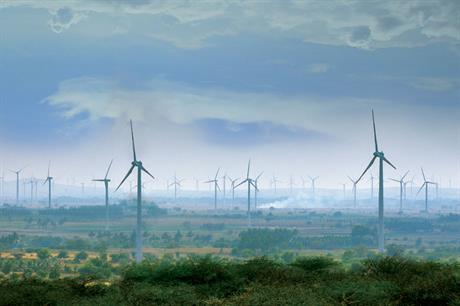Hazy outlook Energy demand in India is growing fast, but loss of incentives has slowed wind development (photo: ReGen Powertech)