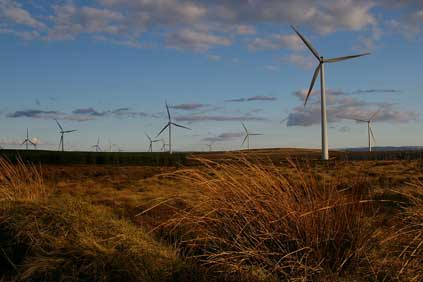 Iberdrola's 322MW  Whitelee windfarm was brought online in 2009