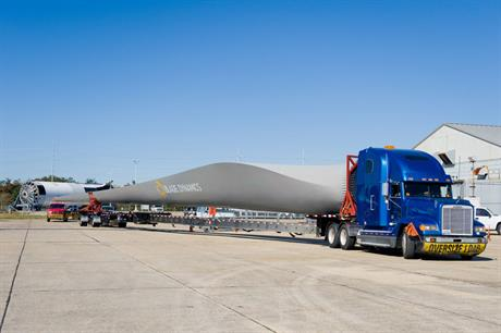 Dynamic load… The D49 turbine blade signalled the arrival of innovative manfacturer Blade Dynamics