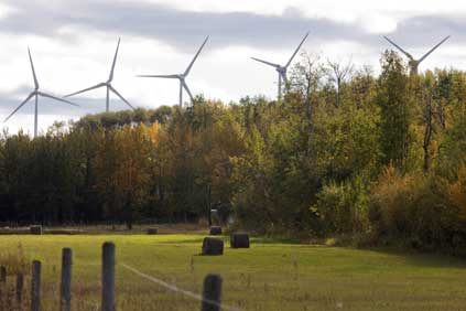 The Bear Mountain wind farm, British Columbia