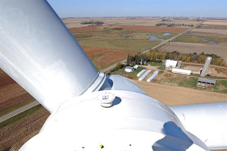 Debut: The 109.5MW Shady Oaks project is the first utility-scale poject in the US to use Chinese turbines