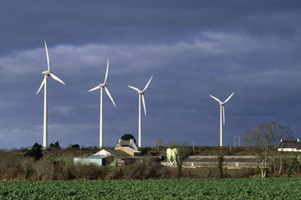 The Ploudalmezeau wind farm in Brittany. France currently has a wind capacity of 5.3GW